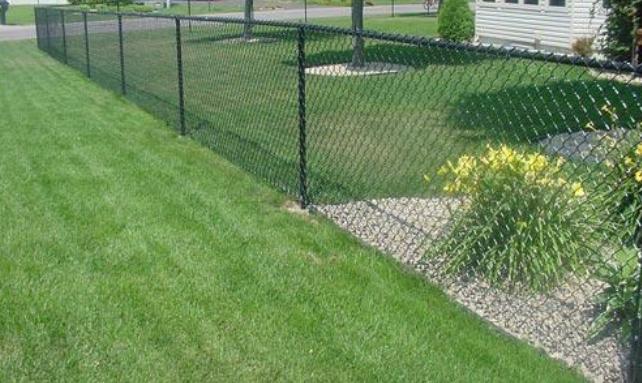 6u0027 black vinyl chain link fence