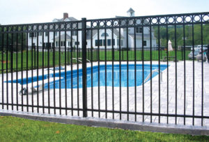 Ameristar Montage steel fence around pool
