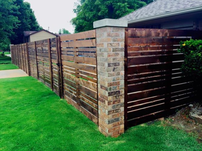 Custom Cedar Horizontal Fence