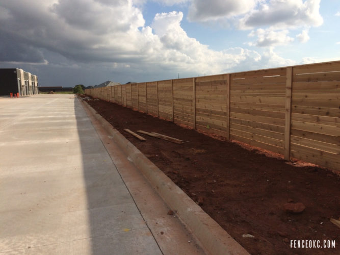 515' Commercial Cedar Fence in Edmond, Oklahoma