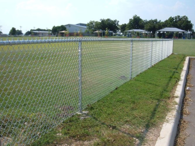 4' galvanized commercial chain link fence