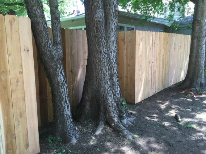 Our fences are custom built on site.