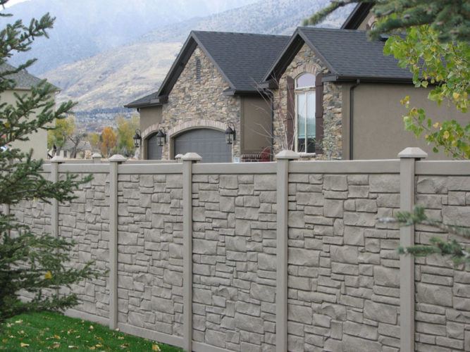 Faux Stone Fences in Oklahoma City
