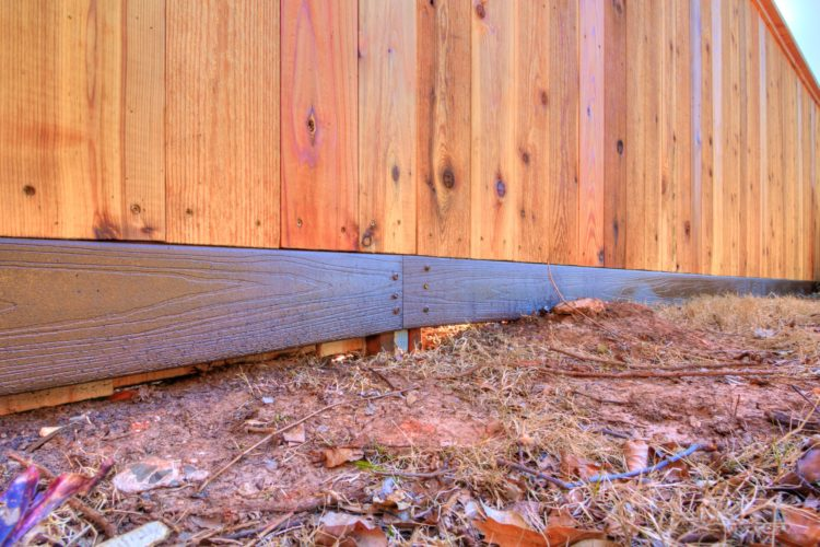 Custom Cedar Fence with Composite Runner
