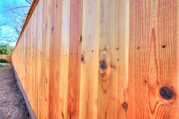 Cedar Fence with Cap and Trim