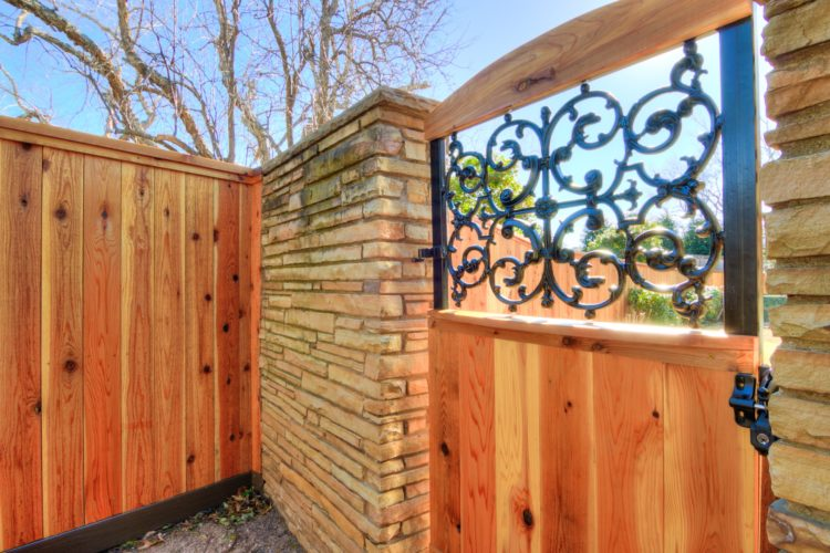 Residental Cedar Fence with Cap & Rail in OKC