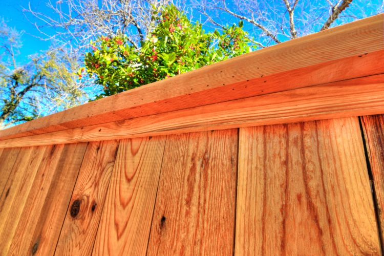 Cedar Fence With Optional Cap & Trim