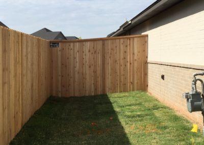 6' Cedar Privacy Fence Installed in Edmond, Oklahoma by Fence OKC.