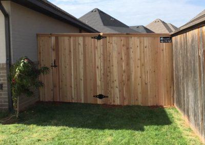 6' Cedar Cap & Trim Residential Privacy Fence Installed in Edmond, Oklahoma by Fence OKC
