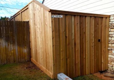 8' Cedar Board on Board Cap & Trim Fence Transition to 6' Cedar Board on Board Cap & Trim Fence