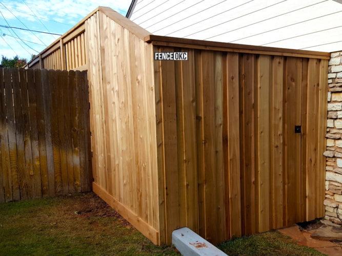 8' Cedar Board on Board Cap & Trim Fence Transition to 6' Cedar Board on Board Cap & Trim Fence will help increase your property value