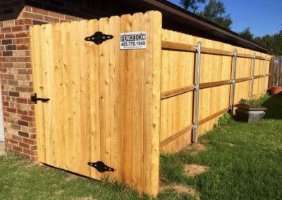 6' Cedar Stockade Privacy Walkthrough Gate with View Blocker - Installed OKC, Oklahoma
