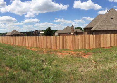 6' cedar privacy fence installed in Newcastle, Oklahoma by Fence OKC.