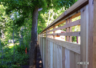 Custom Lattice Cedar Privacy Fence Installed by Fence OKC.