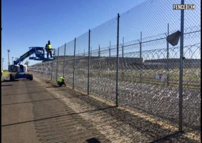 Commercial high security prison fence for correctional facility in Hinton, Oklahoma