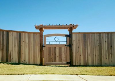 Custom Cedar Fence with Custom Gate