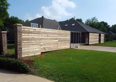 Custom Horizontal Cedar Fence with automatic gate