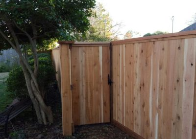 6' custom cedar fence with cap and trim in Edmond Oklahoma