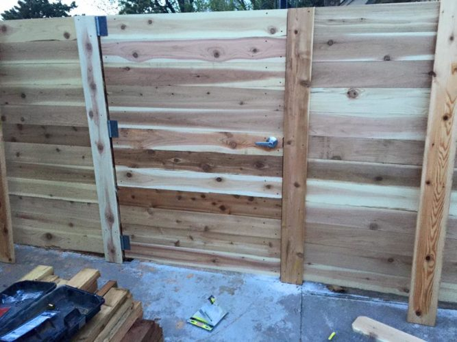 Custom Horizontal Cedar Gate