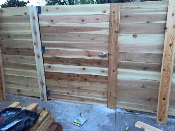Custom Horizontal Cedar Gate