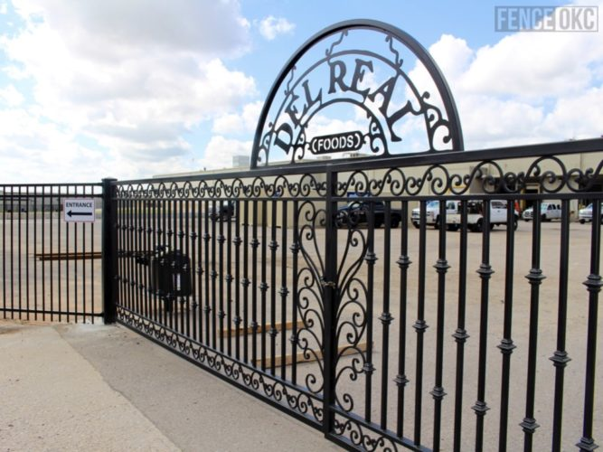 Custom Commercial Ameristar Ornamental Iron with Automated Gate