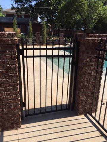 4' Ameristar ornamental iron gate for pool enclosure in Oklahoma city, Oklahoma.