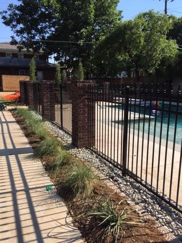 4' Ameristar ornamental iron pool enclosure installed in Oklahoma City, Oklahoma by Fence OKC.