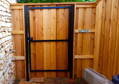 6' Custom Cedar Cap & Trim Steel Frame Gate