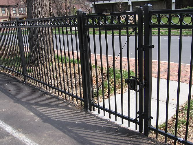 Ornamental iron commercial fence installation services in central Oklahoma by Fence OKC.