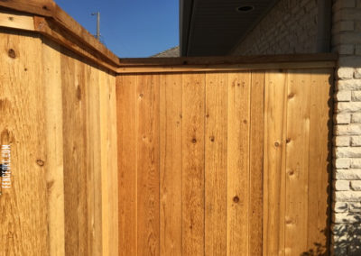 6' Cedar Cap and Trim Residential Fence Project in Oklahoma City, Oklahoma