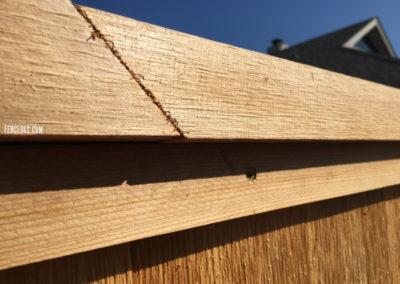 How we connect cedar cap and trim