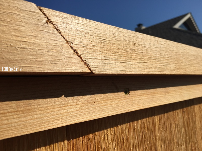 How we connect cedar cap and trim picture for our fence blog