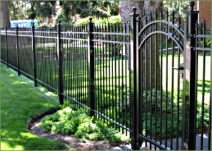 Increase your property value with a beautiful ornamental iron fence.