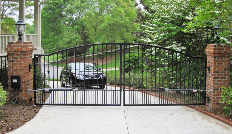 Automatic Driveway Gates How Do They Work Fence Okc