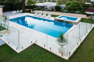 Glass pool fencing is secure and beautiful