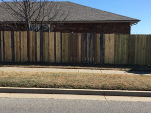 Replace fence when tired of piecing it together