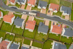 Typical central Oklahoma suburban neighborhood
