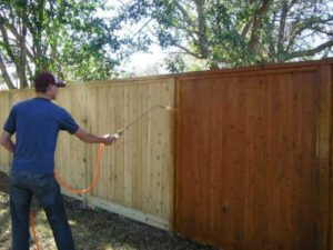 Avoid fence repairs by maintaining your shared backyard fence.
