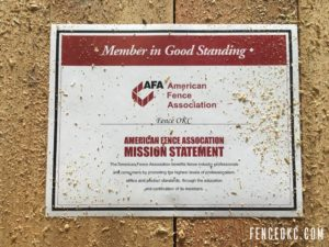 Fence OKC is a proud member of the American Fence Association | FenceOKC.com