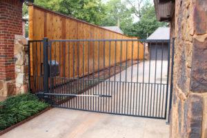 automated gate installation in Oklahoma City, Oklahoma.