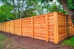Cedar privacy fence installation by Fence OKC
