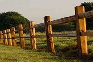 Cedar split rail fencing OKC