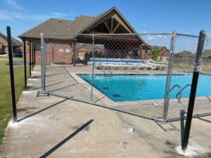 Temporary fence panels in Oklahoma City by Fence OKC