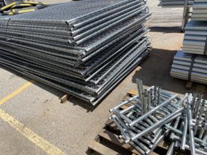Temporary fence panels for rent or sale by Fence OKC