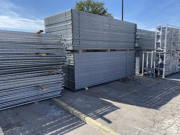 Temporary chain link fence panels for rent by Fence OKC.