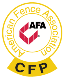 We are an American Fence Association Certified Fence Professional Compnany.